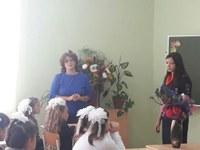 Инспектор ГИБДД Голубцова М. А. на уроке в 3 классе